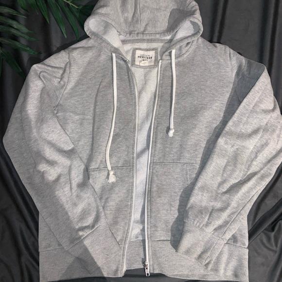 Grey zip up